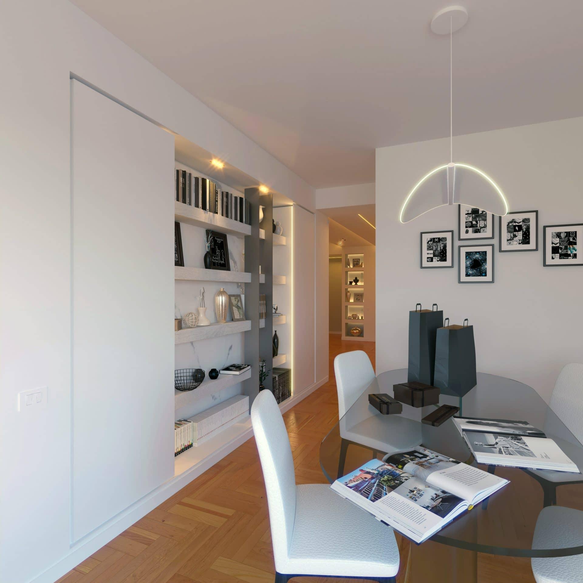 Render progetto mobile soggiorno