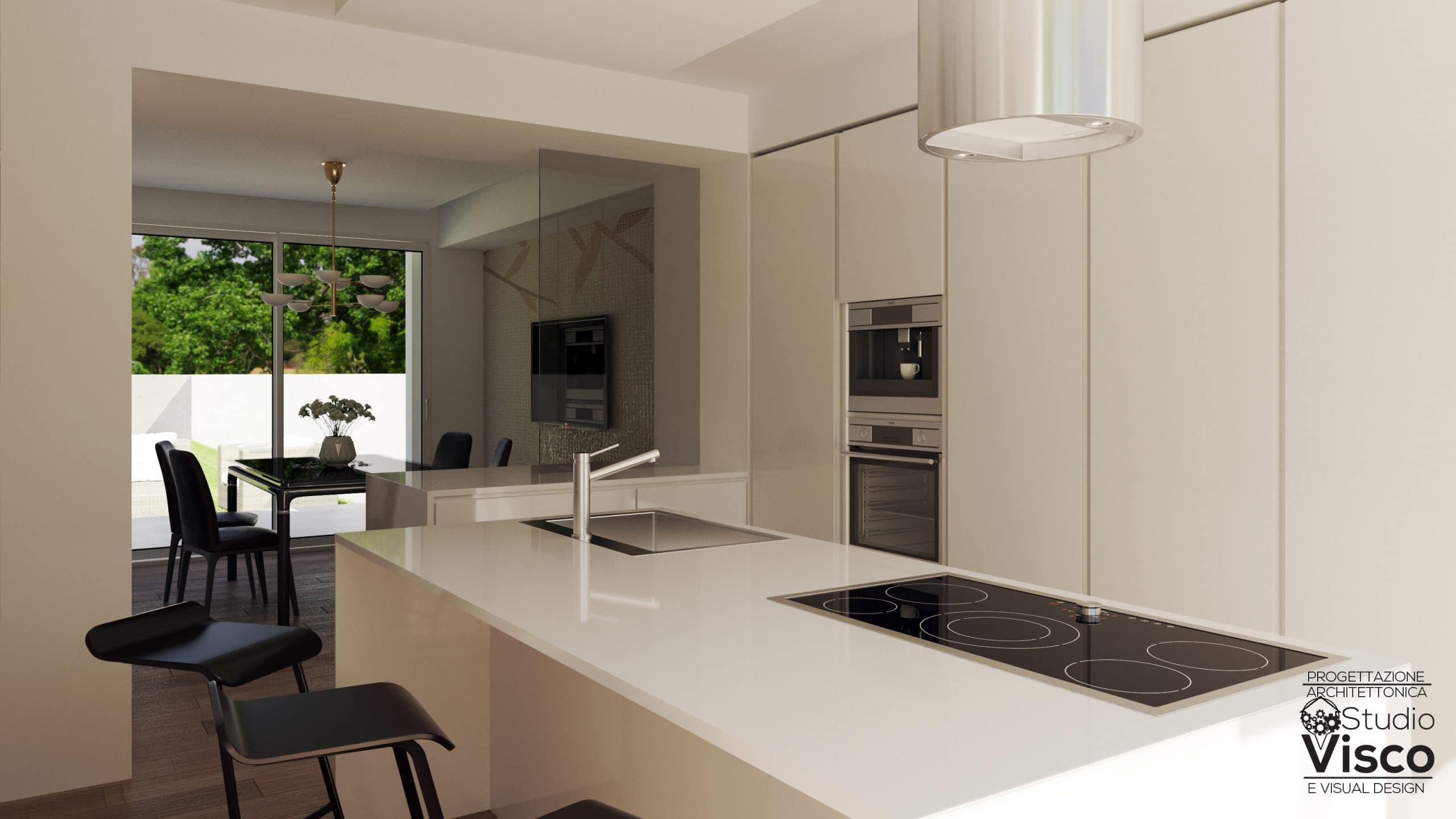 Vista cucina/sala da pranzo